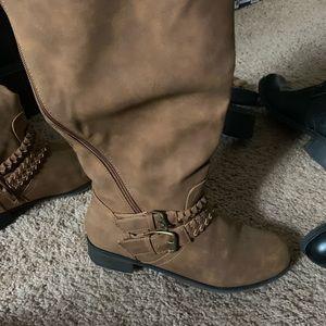 XoXo brown boots like new.